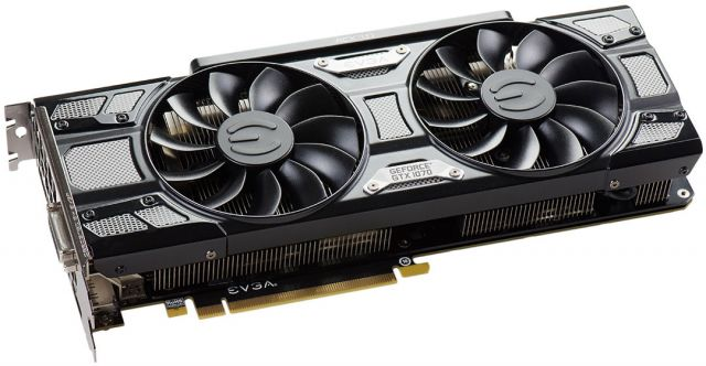 evga GeForce GTX 1070 SuperClocked GAMING ACX 3.0 Black Edition, 8 Go