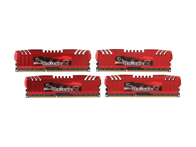 G.Skill Ripjaws Z Series 4x4Go PC12800 Quad Channel CAS11 (F3-17000CL11Q-16GBZL)