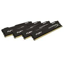 Kingston HyperX Fury 4 x 4 Go DDR4 PC17000 (HX421C14FBK4/16)