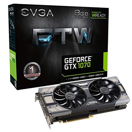EVGA GeForce GTX 1070 FTW Gaming ACX - 8Go (08G-P4-6276-KR)