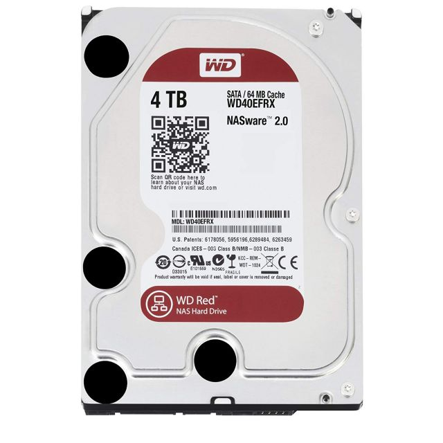 Western digital WD40EFRX - RED RD1000M 4To SATA III 64Mo