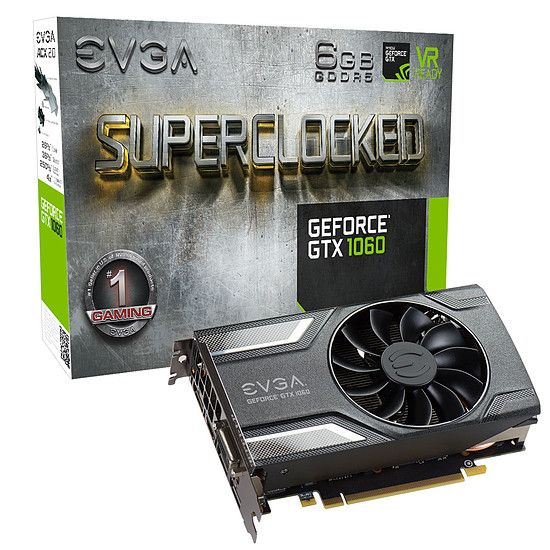 EVGA GeForce GTX 1060 SC Gaming ACX 3.0 - 6 Go (	06G-P4-6163-KR)