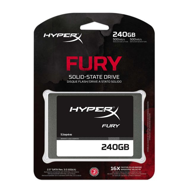 Kingston HyperX Fury 240Go 2,5' SATA III (SHFS37A/240G)