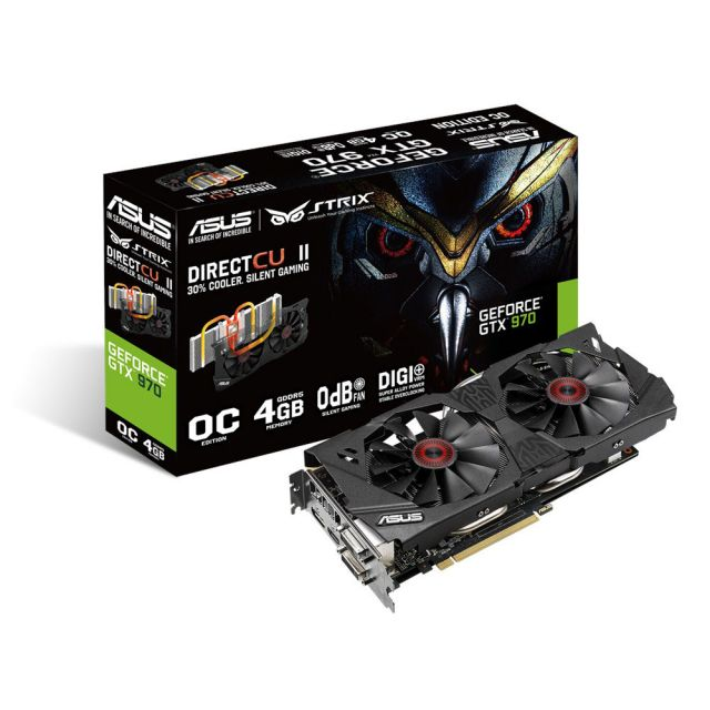 Asus GeForce GTX 970 STRIX OC - 4 Go (STRIX-GTX970-DC2OC-4GD5)