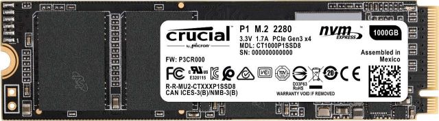 crucial SSD P1 1 To 3D NAND M.2 NVMe PCIe