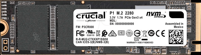 crucial P1 1 To Nvme