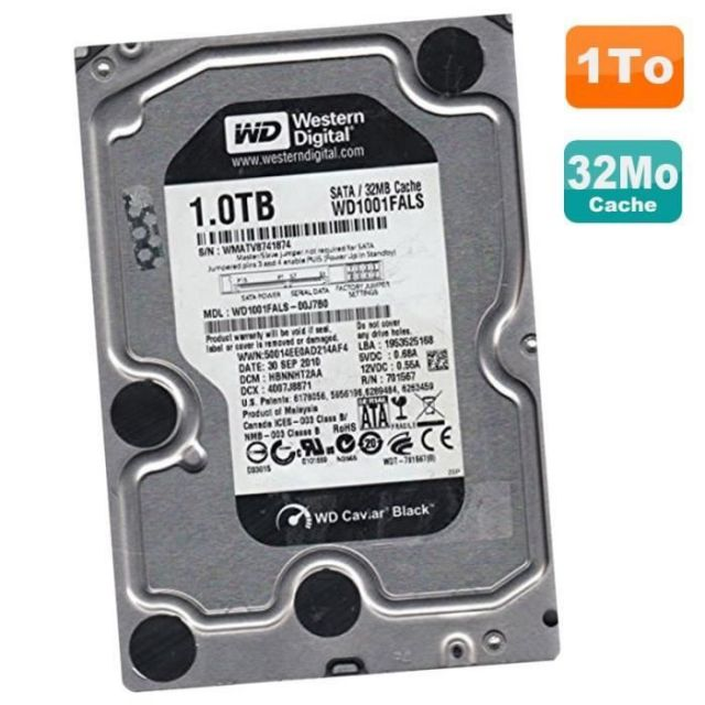 Western digital WD1001FALS - 1To Caviar Black SATA II 32Mo