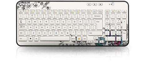 Logitech Wireless Keyboard K360 Floral Foray