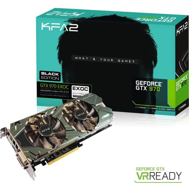 KFA² GeForce GTX 970 Black Exoc Sniper Edition 4 Go (GTX970-EXOC-BLACK-SNIPER-EDITION)