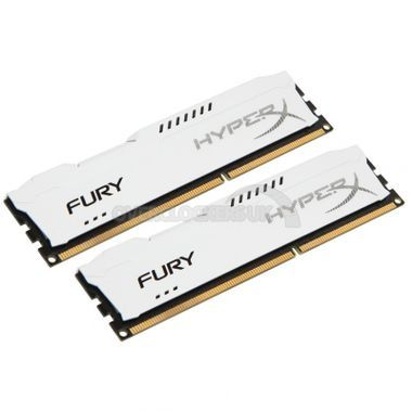 Kingston HyperX Fury White 2 x 4Go DDR3 PC15000 (HX318C10FWK2/8)