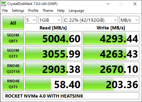 ROCKET NVMe 4.0 WITH HEATSINK