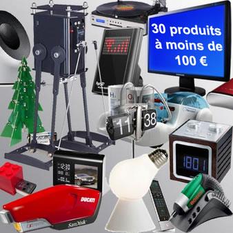 30 id es cadeaux high tech moins de 100 euros articles divers. Black Bedroom Furniture Sets. Home Design Ideas