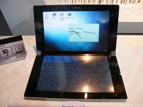 cebit 2009 un portable enti rement tactile chez asus ordinateurs portables. Black Bedroom Furniture Sets. Home Design Ideas