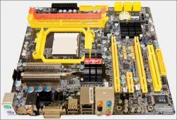 Un test de la carte mère qui permet de jouer avec un processeur AMD
