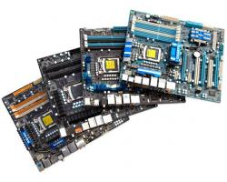 comparatif quatre cartes mères P55 Asus P7P55D Deluxe Biostar Tpower i55 eVGA P55 FTW Gigabyte GA-P55-UD6