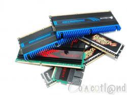 Comparatif Trois DDR3 2 x 2 Go 1600 à 2000 MHz