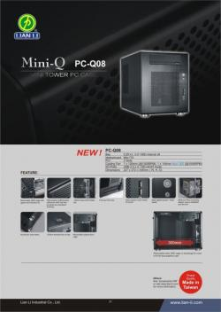 Lian Li PC-Q08, du boitier ITX avec six emplacements 3.5