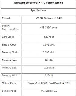 La gtx 470 sera bien en version GS