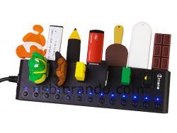 Pour les fondus des gadgets USB : un Hub de 13 pors, tout simplement...