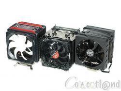 Trois ventirads CPU en 2 x 120 mm