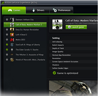 Nvidia propose le Geforce Experience