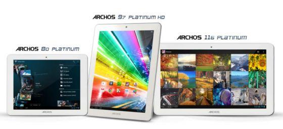 archos 3 nouvelles tablettes platinum tablettes. Black Bedroom Furniture Sets. Home Design Ideas