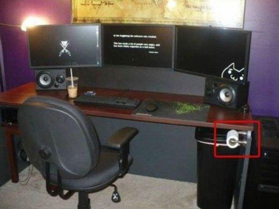 d coration bureau gamer. Black Bedroom Furniture Sets. Home Design Ideas