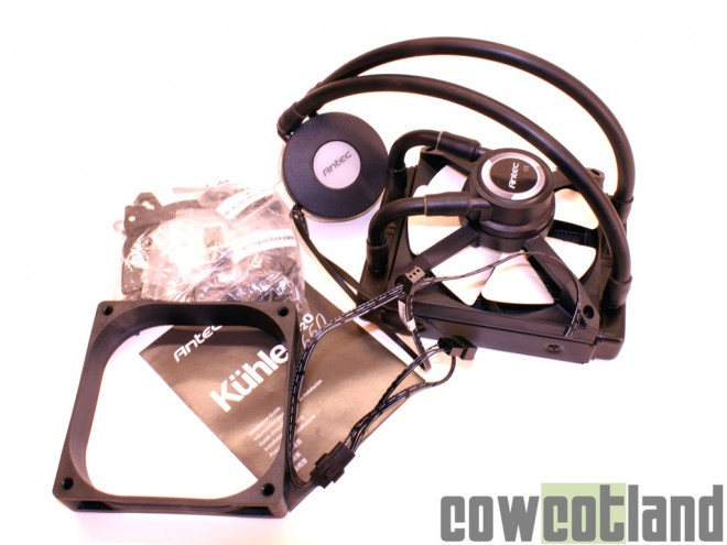 cowcotland test kit watercooling aio antec kuhler h2o 650