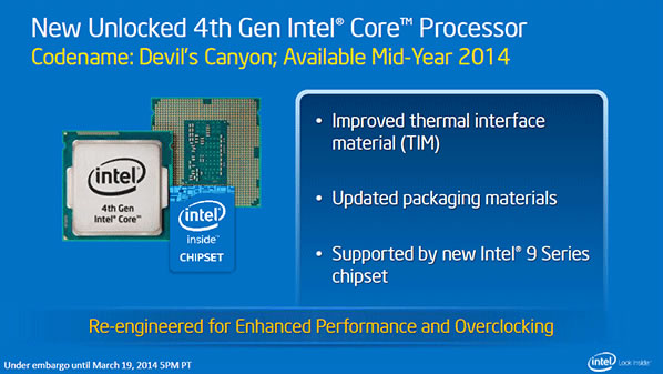 intel devil canyon haswell special overclocking juin
