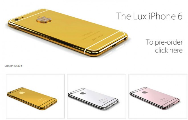 brikk lux iphone 6 or 24k platine 4500-dollars