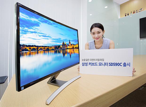 Samsung un moniteur 27 pouces incurv avec r tro for Ecran retouche photo 27 pouces
