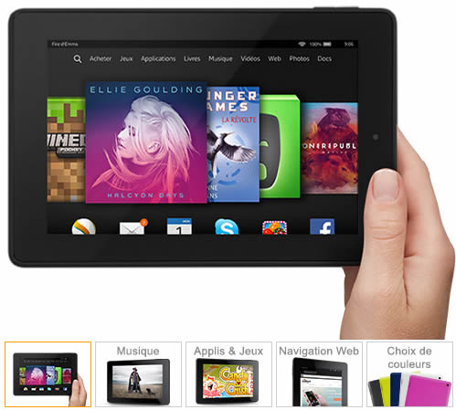 bons plans jibaka tablette amazon hd7 99