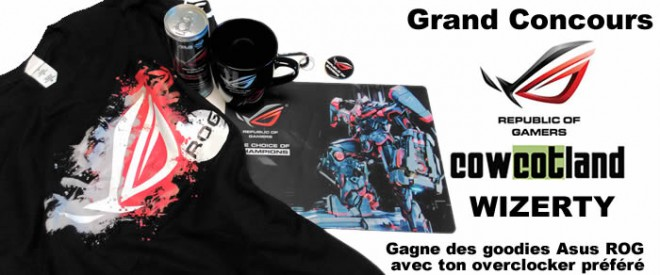 concours wizerty asus rog t-shirt tapis souris asus rog