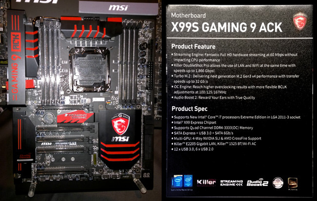 msi version ack x99s gaming 9