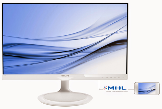 Philips 275c5qhaw un cran design ecrans moniteurs for Moniteur 27 pouces dalle ips
