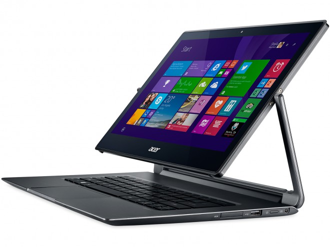en test le pc portable convertible tablette acer aspire r13 r7 ordinateurs portables. Black Bedroom Furniture Sets. Home Design Ideas