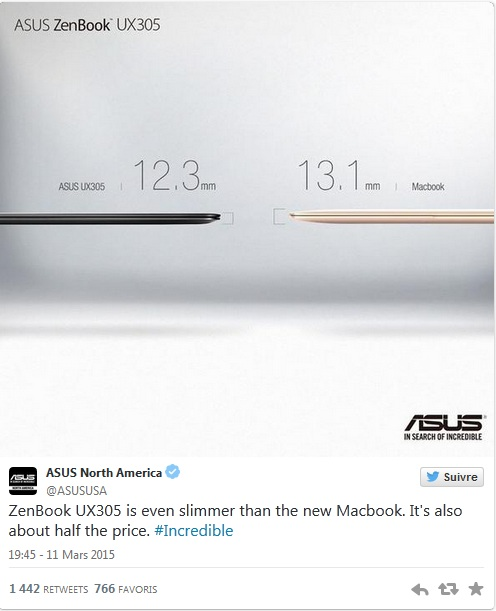 asus taquine apple compare ultra book ux 305 macbook air