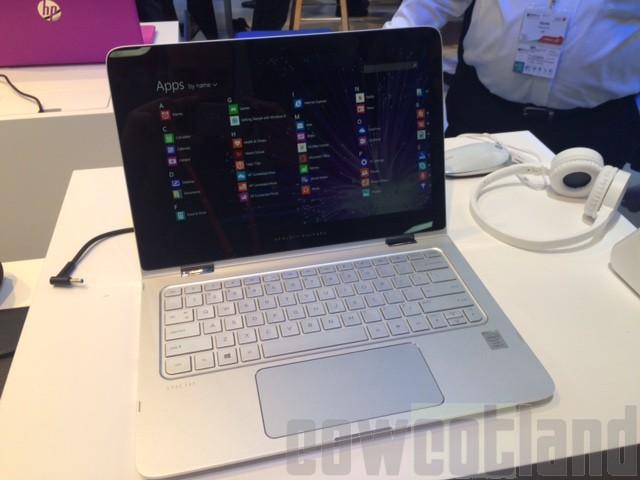 mwc 2015 hp spectre x360 un ultra portable qui se veut polyvalent ordinateurs portables. Black Bedroom Furniture Sets. Home Design Ideas