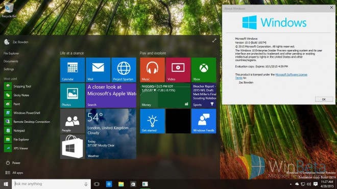 windows 10 microsoft deploie build 10074 fr windows 10 pro 10074 x64 dvd