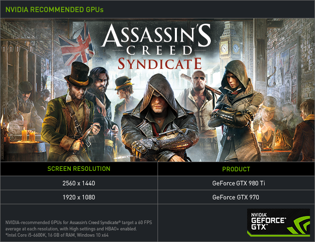 nvidia publie guide technique assassin creed syndicate