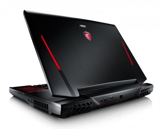 msi pc portable gamer gt80s 6qf 096fr intel i7 6920hq et sli de gtx 980 6000 portable gamer. Black Bedroom Furniture Sets. Home Design Ideas