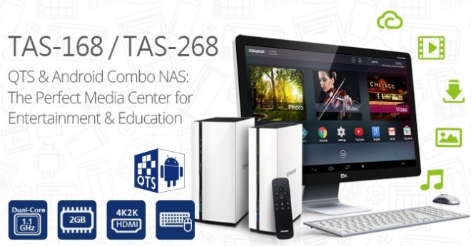 qnap alnce qts-android combo nas tas-168 tas-268