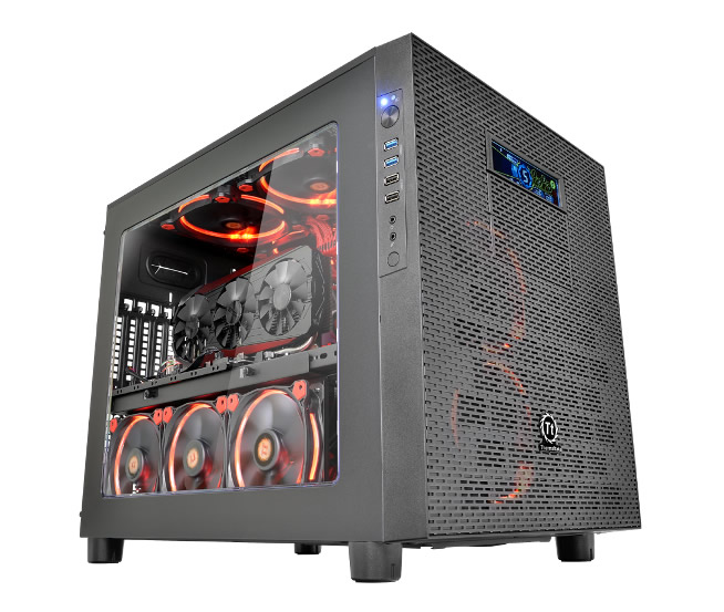 thermaltake officialise son boitier core x5 et core x5 riing bo tiers racks. Black Bedroom Furniture Sets. Home Design Ideas