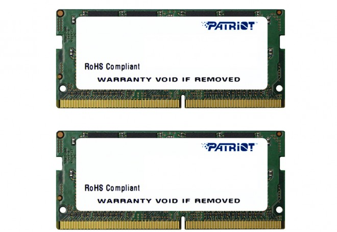 patriot so-dimm ddr4 2133 mhz compatible nuc skylake