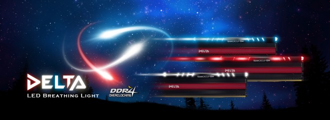 4b490f7596f8bc Team Group annonce les modules de mémoire DDR4 Delta Line - Mémoire