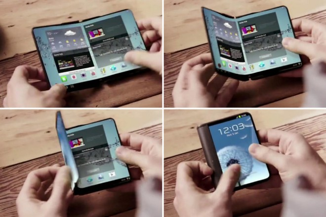 samsung valley smartphone dalle pliable 2017