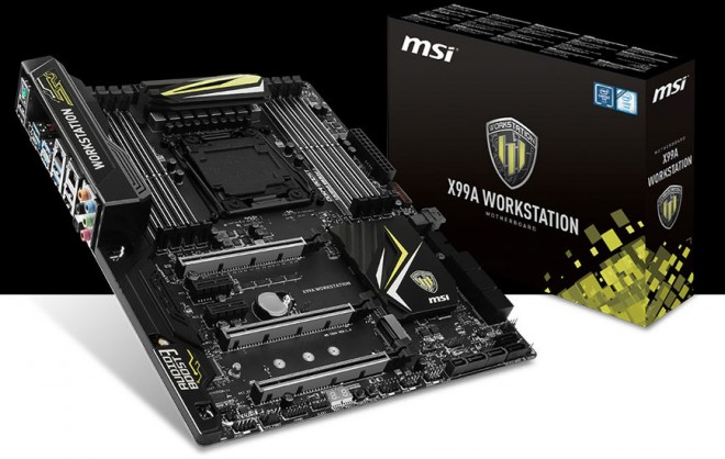 msi annonce carte mere x99a workstation