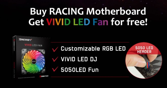 avenir ventilateur rgb biostar vivid led fan