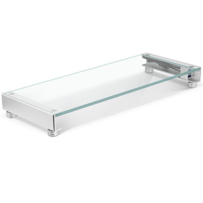 jonsbo ga 01 un support d 39 cran en verre tremp avec deux ports usb et un r tro clairage. Black Bedroom Furniture Sets. Home Design Ideas