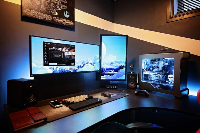 un espace d tente bureau gaming de fou furieux modifications. Black Bedroom Furniture Sets. Home Design Ideas